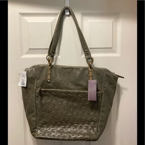NWT Elliot Luca green leather bag